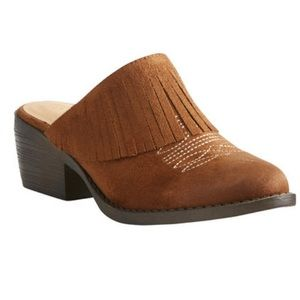 New ariat unbridled Shirley whiskey brown mules